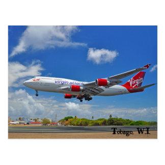Cartão Postal Aterragem atlântica do Virgin em Tobago