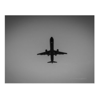 Cartão Postal Aterragem de aviões mostrada em silhueta