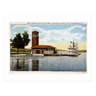 Cartão Postal Aterragem do barco e torre de Miller