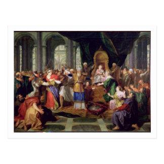 Cartão Postal Athaliah expeliu do templo, c.1697 (óleo sobre