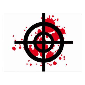 Cartão Postal atirador furtivo sangrento do alvo