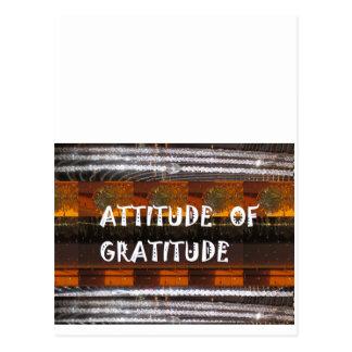 Cartão Postal ATITUDE de palavras da sabedoria do texto da