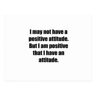 Cartão Postal Atitude positiva