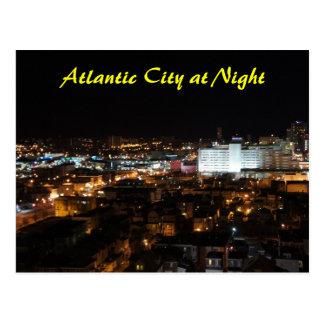 Cartão Postal Atlantic City na noite