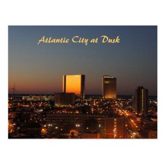 Cartão Postal Atlantic City no crepúsculo