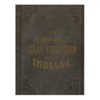 Cartão Postal Atlas e índice geográfico topográficos novos de