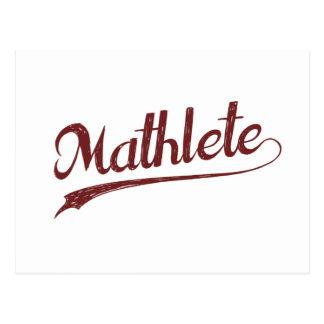 Cartão Postal Atleta da matemática de All Star Mathlete