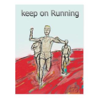 Cartão Postal atletas, corredor, rdesign da raça de maratona