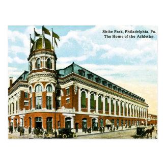 Cartão Postal Atletismo do parque de Shibe do basebol de Philly