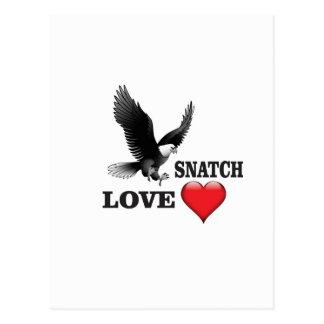 Cartão Postal ato de agarrar do amor do pássaro
