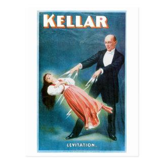 Cartão Postal Ato mágico do vintage do mágico da levitação do ~