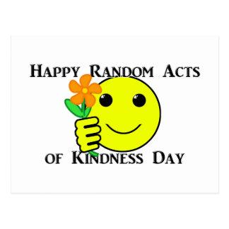 Cartão Postal Atos aleatórios felizes do dia da bondade