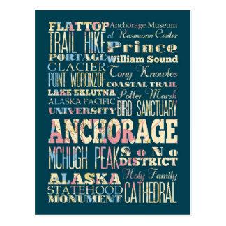 Cartão Postal Atrações & lugares famosos de Anchorage, Alaska