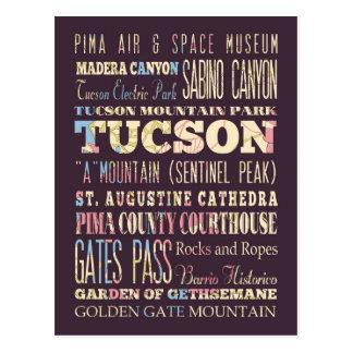 Cartão Postal Atrações & lugares famosos de Tucson, o Arizona