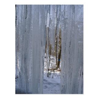 Cartão Postal Atrás da cortina do gelo