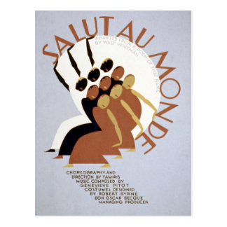 Cartão Postal Au federal Monde WPA de Salut do projeto do teatro