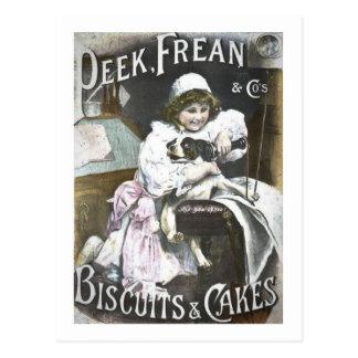Cartão Postal Auge, Frean, & anúncio do vintage dos biscoitos do