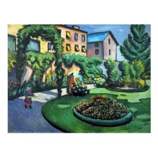 Cartão Postal August Macke - um jardim