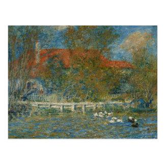 Cartão Postal Auguste Renoir - a lagoa do pato