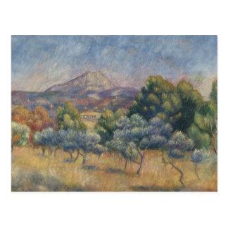 Cartão Postal Auguste Renoir - a montanha de Sainte-Victoire