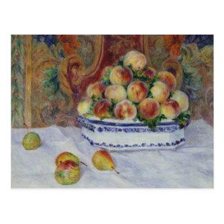 Cartão Postal Auguste Renoir - ainda vida com pêssegos