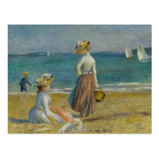 Cartão Postal Auguste Renoir - figuras na praia