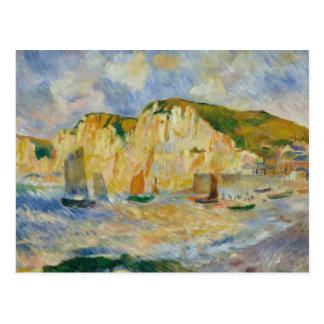 Cartão Postal Auguste Renoir - mar e penhascos