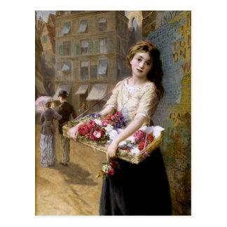 Cartão Postal Augustus Edwin Mulready: Um vendedor da flor da