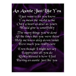 Cartão Postal Auntie Poema - roxo