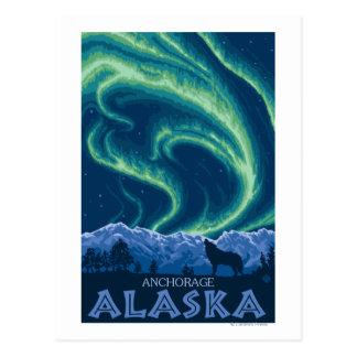 Cartão Postal Aurora boreal - Anchorage, Alaska