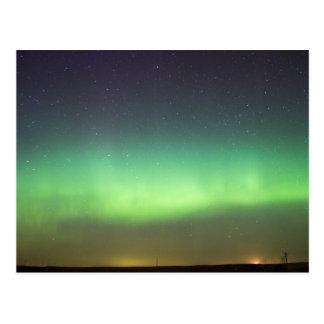 Cartão Postal Aurora boreal sobre Alberta