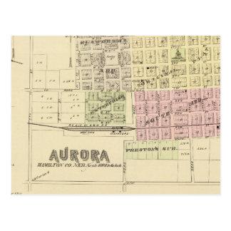Cartão Postal Aurora, Phillips, um Hampton, Nebraska