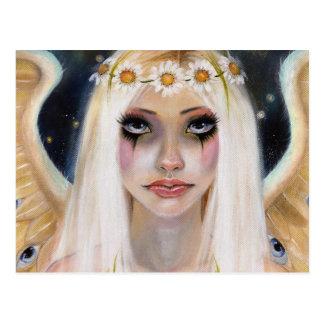 Cartão Postal Ausente espirituoso - anjo louro com uma coroa da