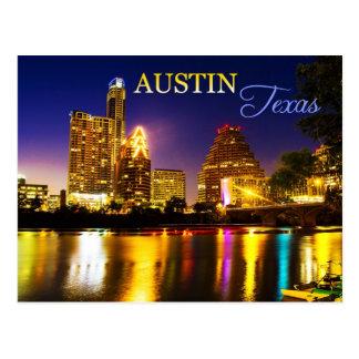 Cartão Postal Austin, skyline de Texas na noite
