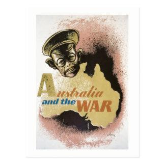Cartão Postal Austrália e a guerra