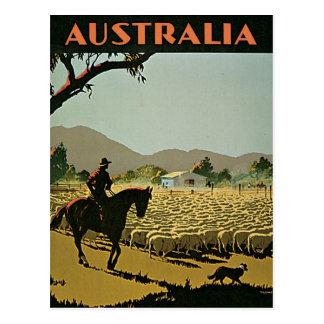 Cartão Postal Austrália em viagens vintage de The Sun
