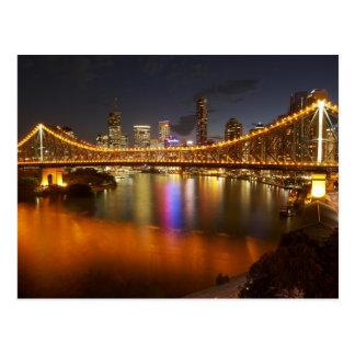 Cartão Postal Austrália, Queensland, Brisbane, ponte da