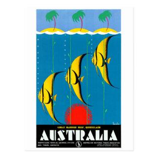 Cartão Postal Austrália restaurou o poster das viagens vintage