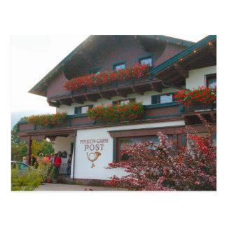 Cartão Postal Áustria, estação de correios da vila de Zillertal