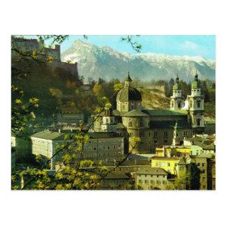 Cartão Postal Áustria, Salzburg, Hofburg, Hofkirche