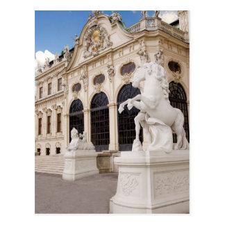 Cartão Postal Áustria, Viena, palácios do Belvedere, superiores