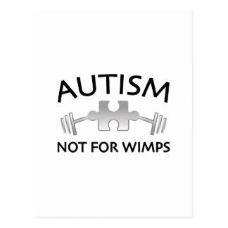 Cartão Postal Autismo não para Wimps