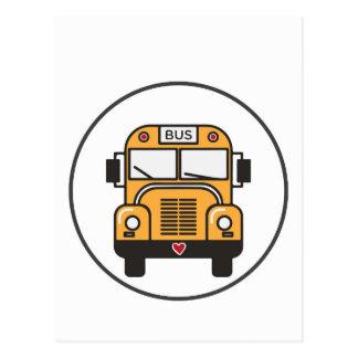 Cartão Postal Auto escolar bonito