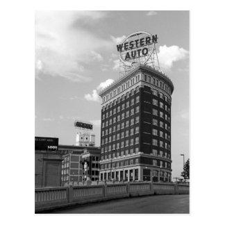Cartão Postal Auto meia construção ocidental do cilindro