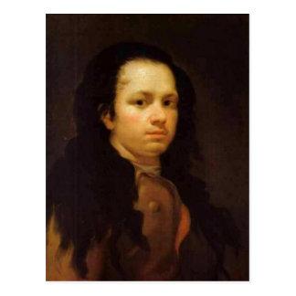 Cartão Postal Auto-retrato da descrição, óleo no painel, 58 x 44