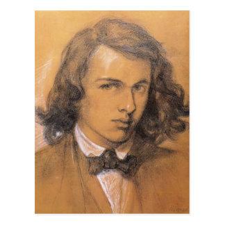 Cartão Postal Auto-Retrato de Dante Gabriel Rossetti-