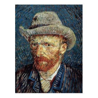 Cartão Postal Auto-Retrato de Van Gogh com o chapéu de feltro