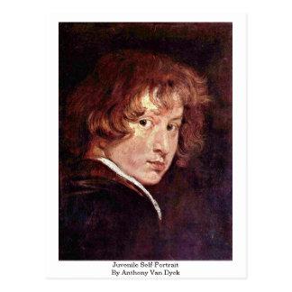 Cartão Postal Auto-Retrato juvenil por Anthony Van Dyck