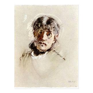 Cartão Postal Auto-Retrato por Berthe Morisot