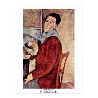 Cartão Postal Auto-Retrato por Modigliani Amedeo